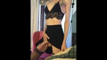 Rosemariejackson milks huge cock and swallows cumshot