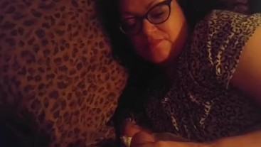 Waking stepmom up with my cock just a teaser