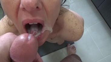 To much cum in mouth