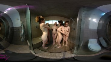 4KHD 360 VR Group Shower Voyeur
