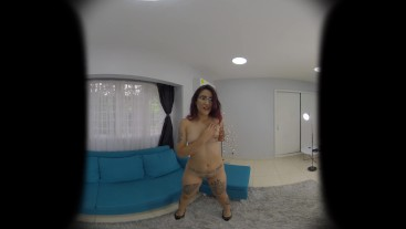 MadyMonroe POV striptease and Blowjob in VR