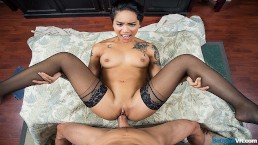 BaDoinkVR Tattooed Asian Babe Honey Gold Needs Stress Relief Fuck
