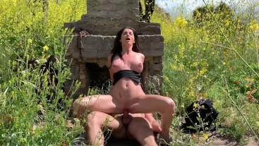 Caught Fucking Outdoors! Silvia Sage Risky Public Oral Creampie