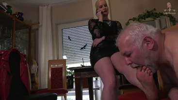 Dirty feet in heels have to be licked (Part 2)