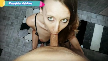 Look at the mess you did in my hair - POV blowjob with cum on hair