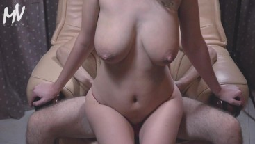 ♥ MarVal - Big Tits MILF Like Do Blowjob And Ride Cock | Homemade Amateur ♥