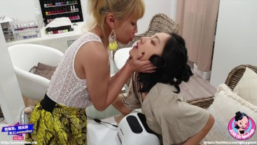 June Liu Ft Xiaoyu Li - Lesbian Temptation /Licking Pussy /Kissing (PART 1)