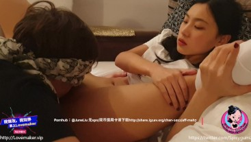 June Liu 刘玥 / SpicyGum - Asian Riding a Guy's Face and Squirt in Mouth