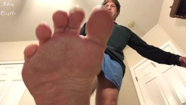 Foot Worship & Sissy's Ass Edged By Alpha's Feet JOI