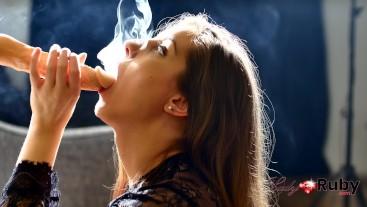 Sensual Smoking Blowjob