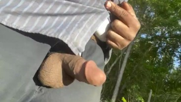 Dick out while walking
