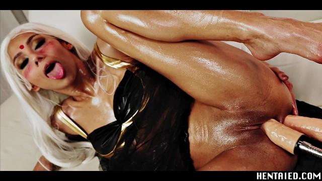 混血舞女双洞被性交机器干,潮喷不止