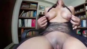 rubs her nipples to orgasm, anne michelle