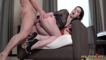 Monica first day In porn - immediately fucked in the anal