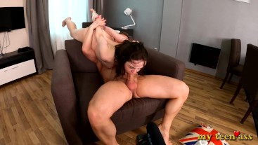 Girl Monica Gets Ass Fucked Hard - First Time In Hardcore Anal Porn