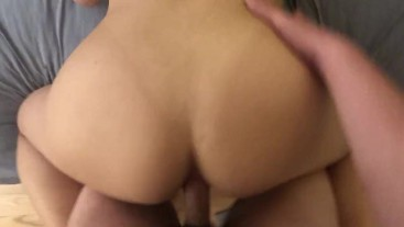 Thick Asian takes it up her tight ass