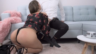Clumsy Secretary Gets Fucked By Her Boss
