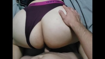 Real amateur hotwife getting fuck while watching porn