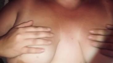 Nipple pinching and Lotion