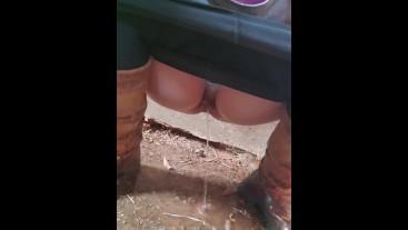 Had to pee while hiking