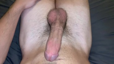POV - 8 INCH MONSTER COCK INTENSE MOANING CUMSHOT IN BED! (MUSCULAR GUY) STUD