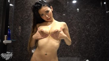 Come take a shower with me, watch me enjoying! Rae Lil Black