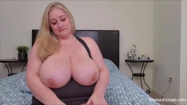 Big Tits Are Better - Reyna Mae - BBW All Natural POV Big Boobs JOI Topless Blonde MILF Titties