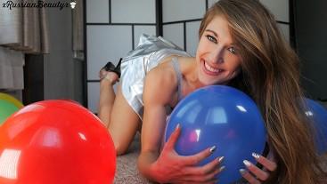 Having Fun With Balloon On My Birthday