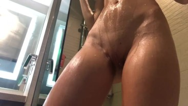 Sexy solo in the shower