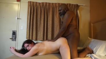 White Slut fucks the neighborhood pimp