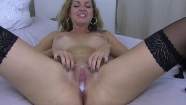 TOEY - pussy filled up already before porn shooting!!!