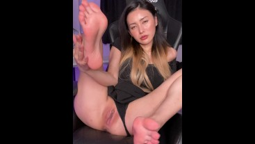 Adore My Feet and Let`s Masturbate Together - Rae Lil Black