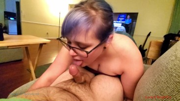 [Full] Blue Haired Slut Sucking And Fucking