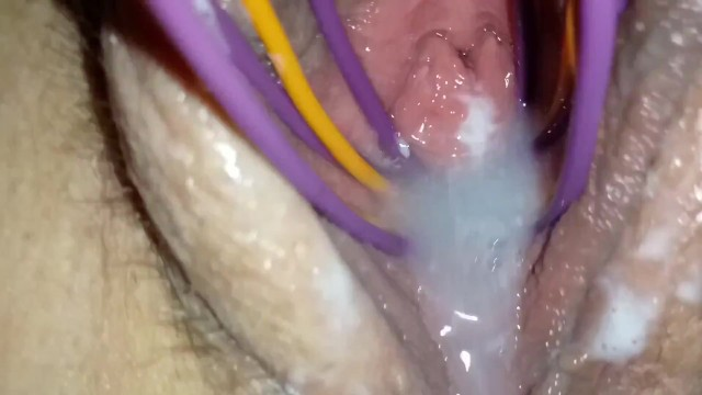 Whisking my creamy pussy grool for you to eat makes me squirt