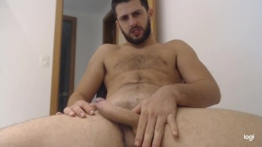 This stud's big uncut cock is gonna stretch your tight ass real good