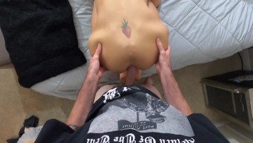 Mickey Strokes destroying Cassandralovelox ass, then fucking her with his cum!