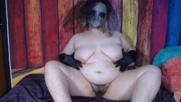 Hairy Masked BBW Double Penetration