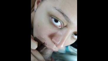 blowjob professional playing with cock