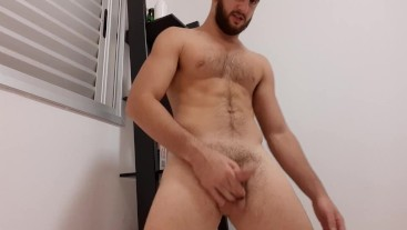 Straight stud wants to have fun - swinging his big uncut cock