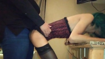 GF fucking Sissy CD with Strapon (ass to mouth)