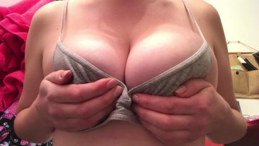 CUM ON MY TITS! I need your cock now!