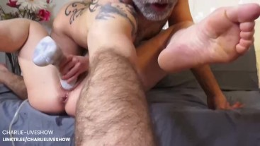 Giant BAD DRAGON is fucking me - Squirt & suck