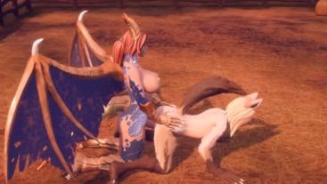 Honey Futa Dragon Fuck Futa Wolf Mom Doggy Style