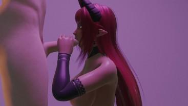 Sexy Succubus Demon Gives Hot Handjob