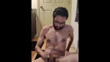 Sexy Hairy balls cum on huge cock