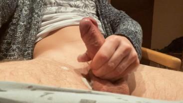 Amateur Guy Jerking Off Close Up Sweet Uncut Cock