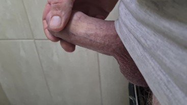 Playing with my thick ginger cock