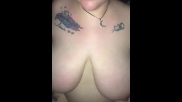 bbw riding me tried something new but the selfie stick wouldnt stay