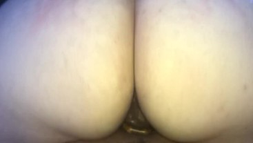 bbw rides reverse i pull out and make her squirt