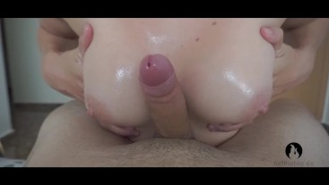 SLOW HANDJOB - She makes me cum twice with ruined orgasm after 3 days of abstinence.